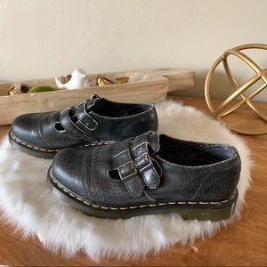 """Doc Martens """"Susy"""" Double Strap Gray Blk Mary Jane"""
